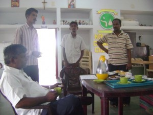 Fr. Vedam and Students at Kovalam