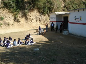 Local School that serves as a site for the health camp