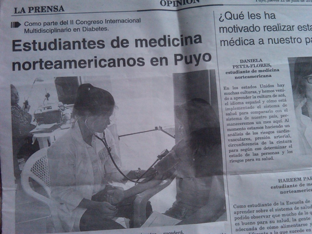 CFHI Students Make New in Ecuador Summer 2010