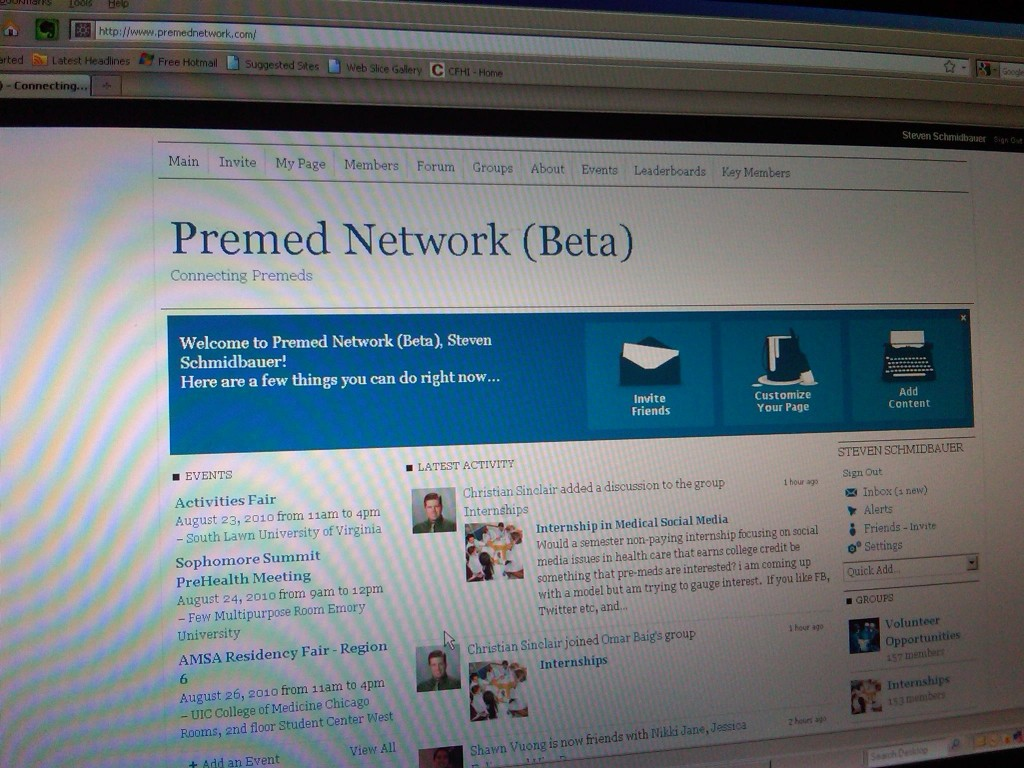 Premed Network Website Image