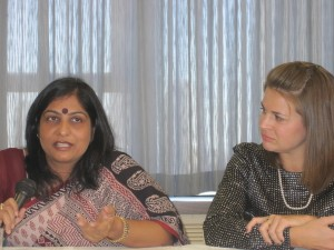Hema Pandey Speaking and Jessica Evert at CFHI Forum on the Empowerment of Women 2010 UN New York