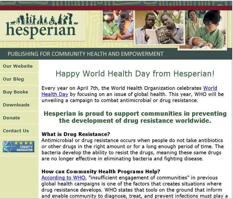 Combat Drug Resistance - Hesperian Foundation